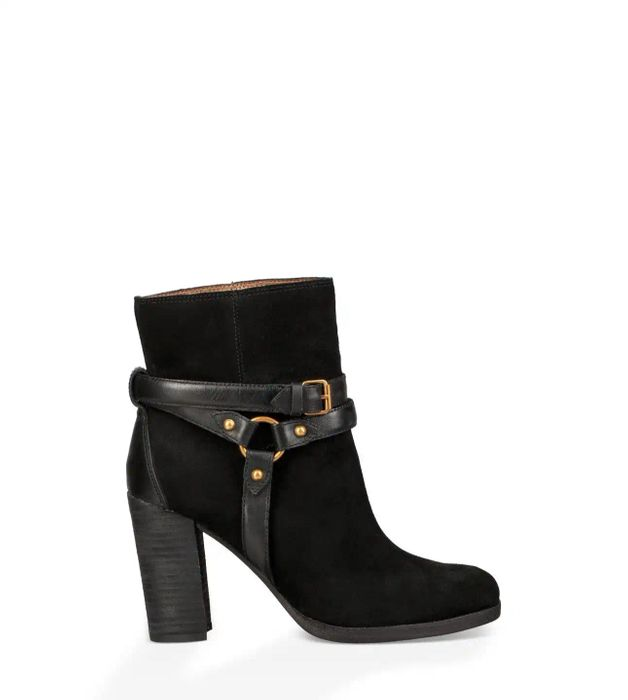 Ugg Dandridge Heel Black Suede Ankle Boot