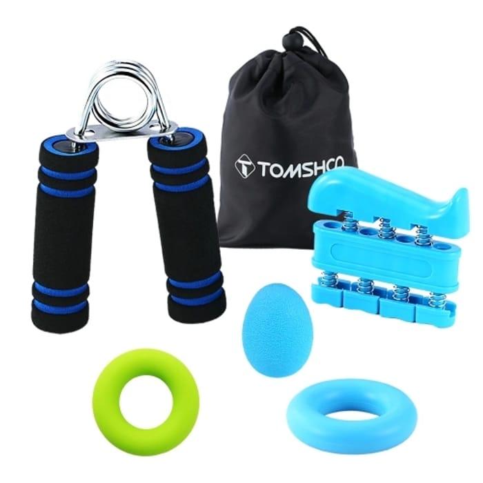 TOMSHOO Hand Grip Strengthener Workout (5 in 1)