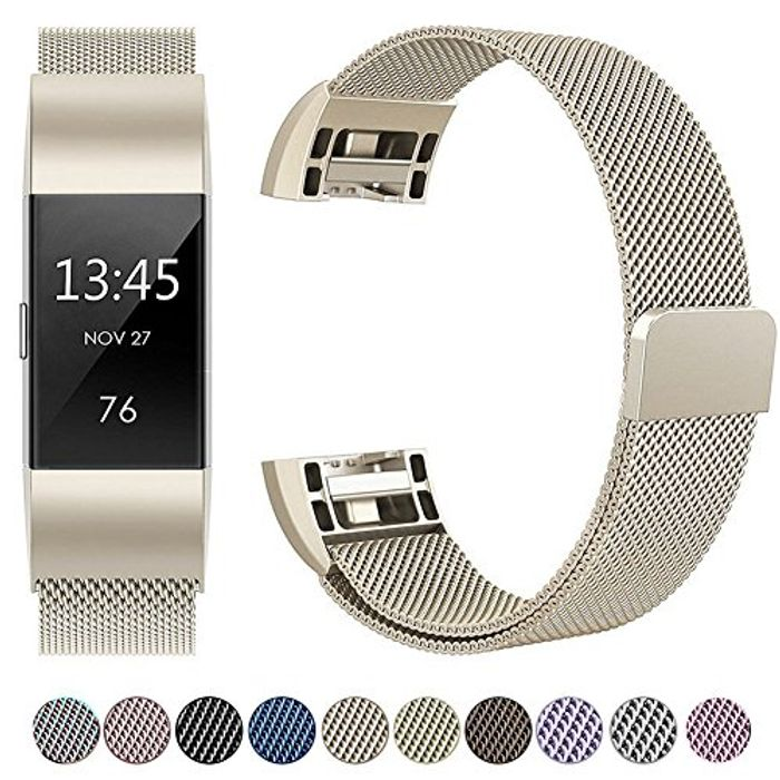HUMENN for Fitbit Charge,Strap Bands Replacement,with Magnetic Closure