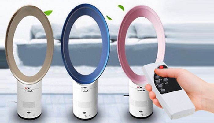 14 Inch Bladeless Oscillating Fan with Remote - 3 Colours
