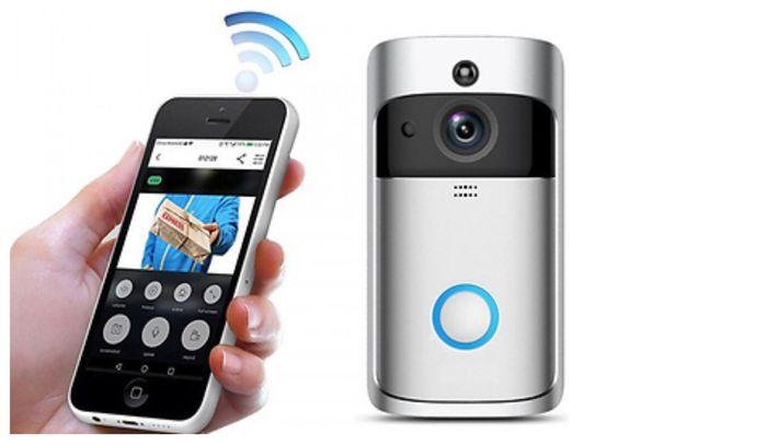 3-in-1 Smartphone-Connected Video Doorbell with Intercom