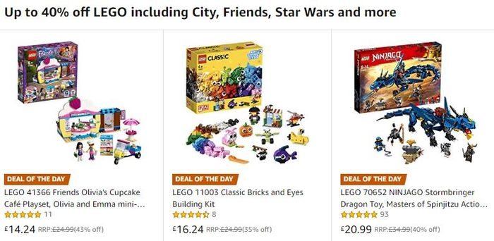 40% OFF - 15 LEGO DEALS at AMAZON IN MONDAY'S SALE