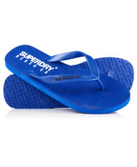 New Mens Superdry Beach Co. Flip Flops Royal