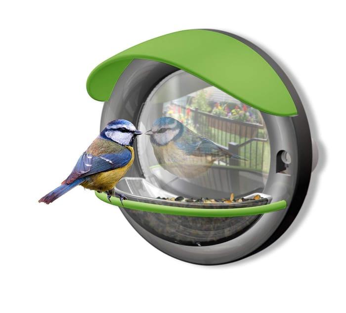 My Living World Window Mounted Bird Feeder with Two-Way Mirror