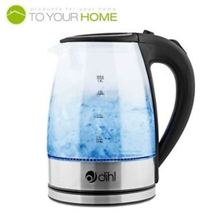 Blue LED Illuminated Kettle, 1800w, 1.8l- FREE DELIVERY