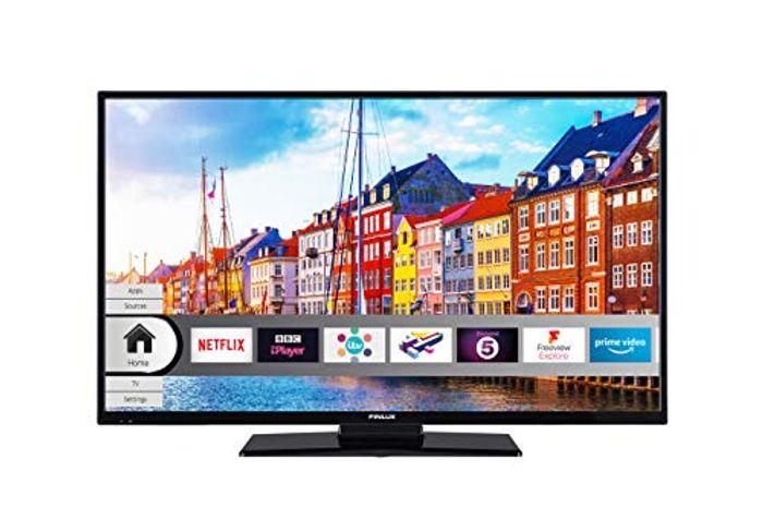 Finlux 32 Inch Smart HD-Ready LED TV with Freeview Play, Black (2019 Model)