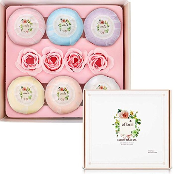 Bath Bombs Gift Set Natural Bath Supplies 6 Pcs for £3.49