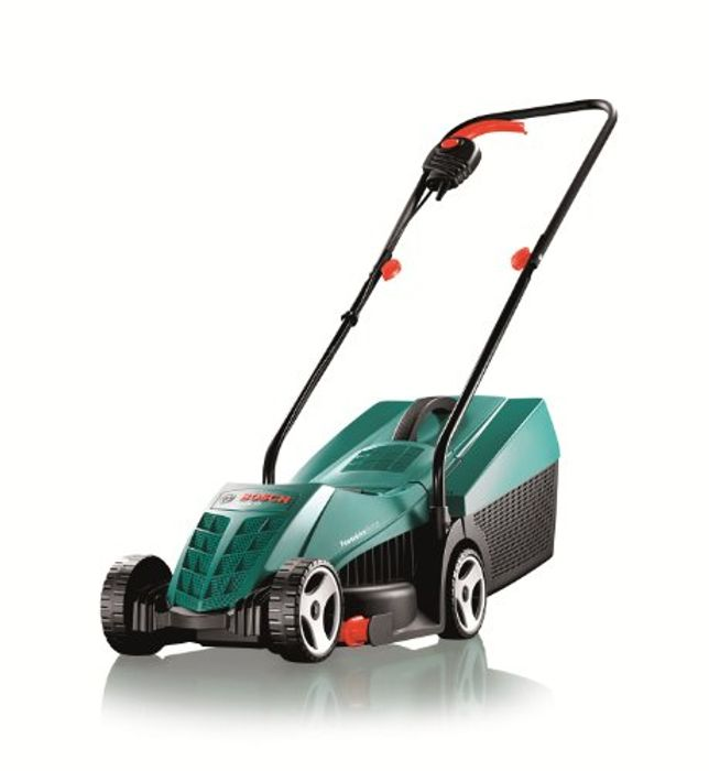 SAVE £40. Bosch Rotak 32R Electric Rotary Lawnmower with 32cm Cutting Width