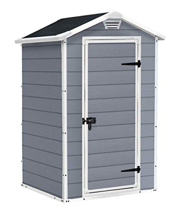 SAVE £59. Keter Manor Outdoor Plastic Garden Storage Shed