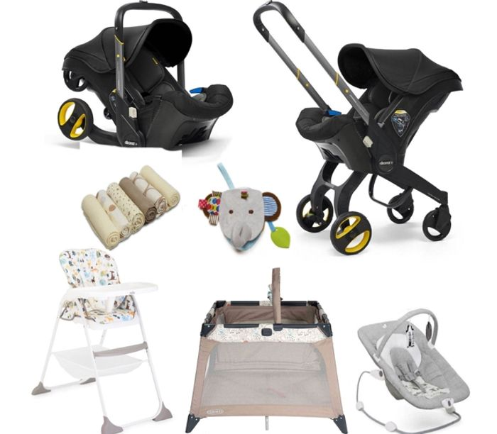 Doona Infant Car Seat & Accessories Everything You Need Bundle - Nitro Black