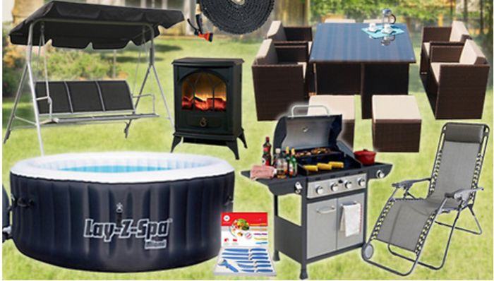 Luxury 'Home & Garden' Mystery Deal - Rattan Sofa Set, Hot Tub, BBQ and More!