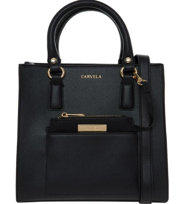 CARVELA Black Structured Grab Bag