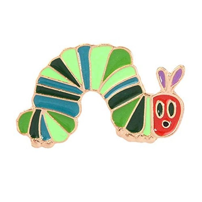 Cartoon Worm Brooch Pin