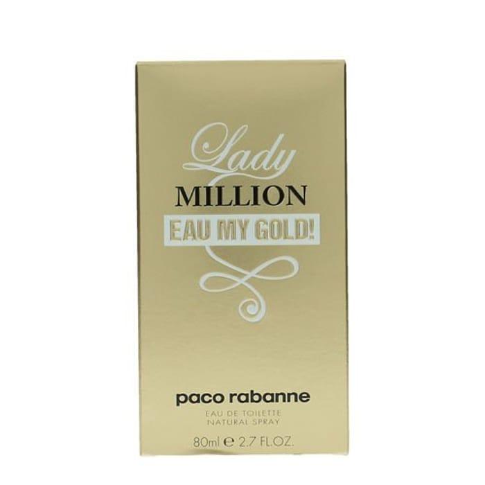 Paco Rabanne Lady Million Eau My Gold Eau De Toilette Spray for Her 80 Ml