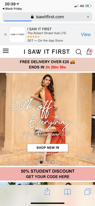 50% off Everything. 75% off SALE