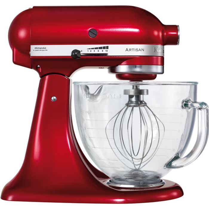 KitchenAid Artisan Stand Mixer with 4.8 Litre Bowl - Candy Apple Red
