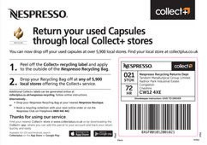 Recycle Nespresso Pods for Free Nespresso