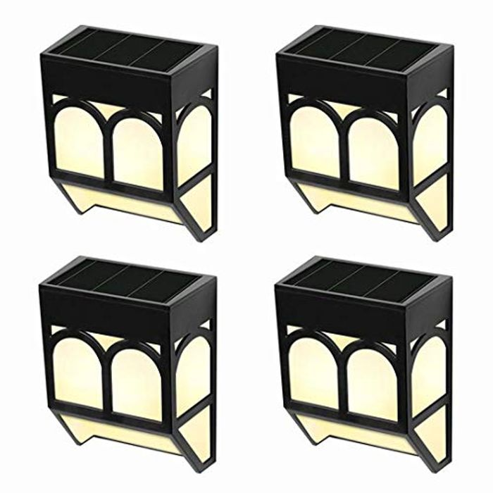 WUHUHAI Solar Fence Lights Pack of 4- save 50%