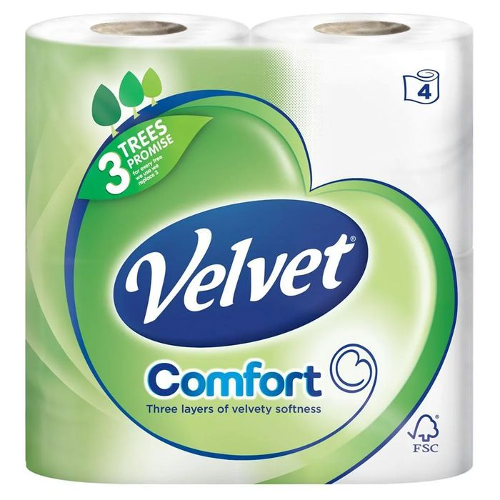 Velvet Comfort 5 X 9 Toilet Rolls 21%off at Costco from 15 April