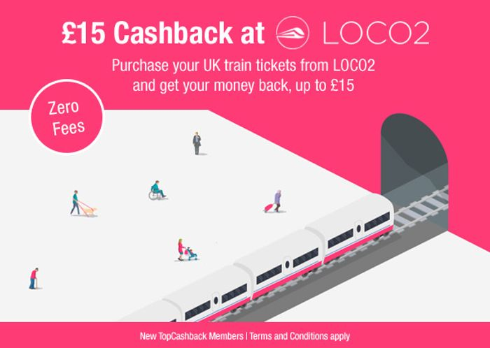 Free UK Train Tickets from LOCO2 after Cashback
