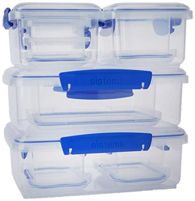 Sistema KLIP IT Food Storage Containers, Blue Clips - 58% Off