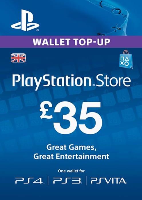 Playstation Network Card - £35 (PS Vita/PS3/PS4) - SAVE £5