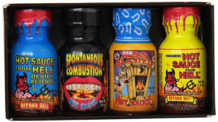 Ass Kickin Extreme Heat Mini Hot Sauce 4 Pieces Gift Set