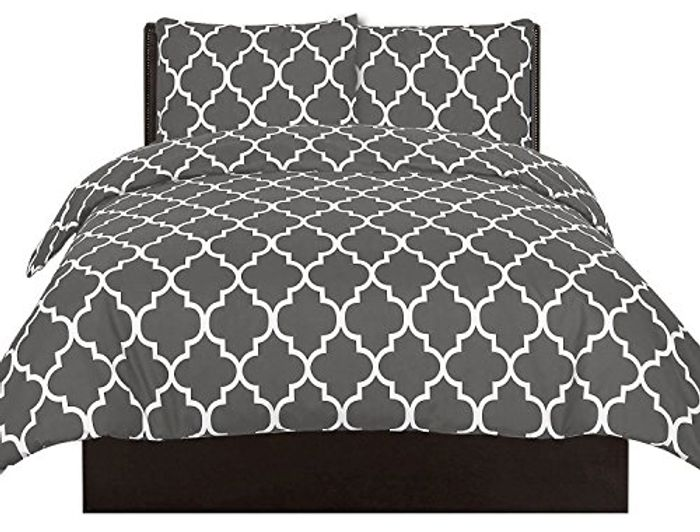 Utopia Bedding Printed Duvet-Cover-Set - King (Navy/Grey) - 27% Off
