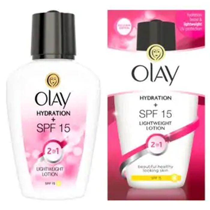 Olay 2 In1 Hydration & SPF 15 Lightweight Lotion 100ml - 52% Off