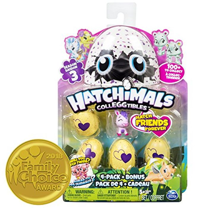 Hatchimals Colleggtibles Series 3 4 Pack & Bonus at Amazon