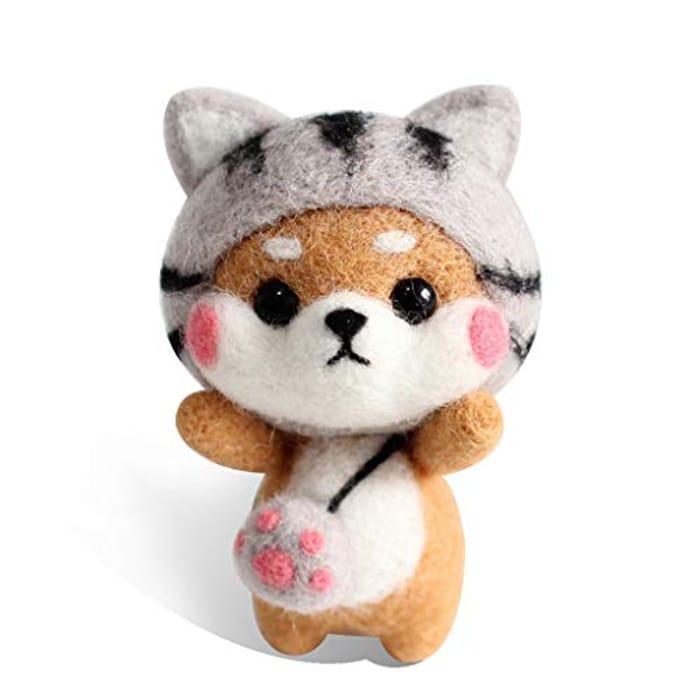 Mentin Cat Doll Wool Felting Kit Craft DIY Set FREE DELIVERY