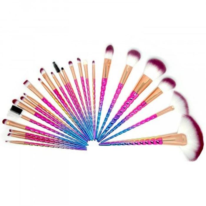 Unicorn Make up Brush Set - 24 Piece