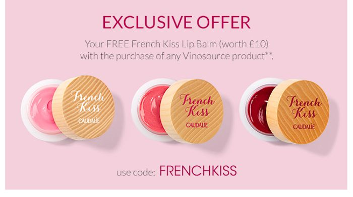 FREE French Kiss Lip Balm with the Purchase of Any Vinosource Product