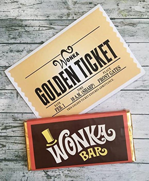 3 Wonka Bars with Golden Tickets 200gram Each