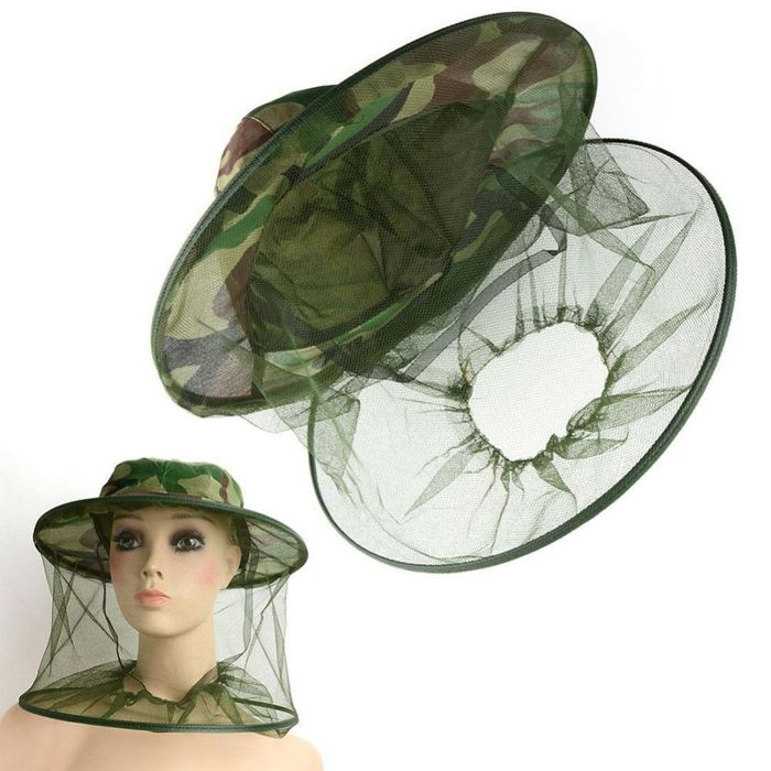 Head Face and Neck Hat with Netting