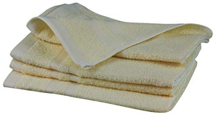 Gzze Sylt 7881-14-A3 Guest Towels (Set of 4), Vanilla, 30 X 50 Cm