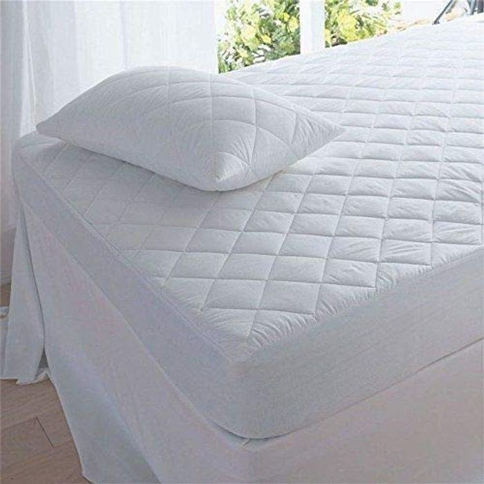 Bargain! DEEP QUILTED MATRESS MATTRESS PROTECTOR FITTED BED COVER (Super King)