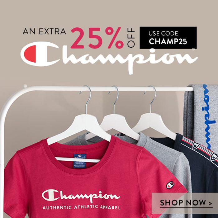 Extra 25% off Champion Items