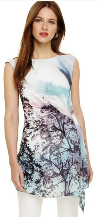 Phase Eight - Multi-Coloured Quinby Tree Scene Tunic