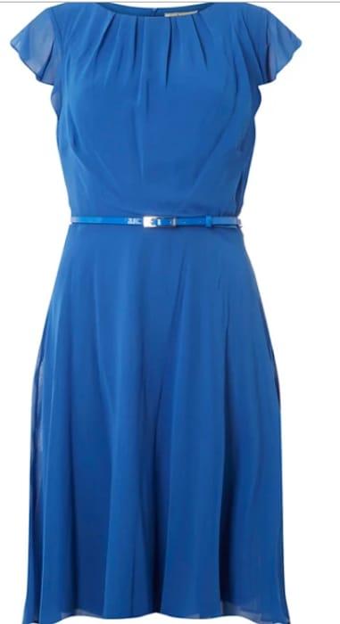 Dorothy Perkins - Billie & Blossom Tall Blue Belted Flare Dress