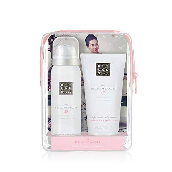 Rituals Beauty to Go - Sakura Pouch Gift Set Shower Foam 50ml, Body Cream