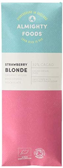 Almighty Foods Almighty Foods Organic Strawberry Blonde Fruity White Chocolate