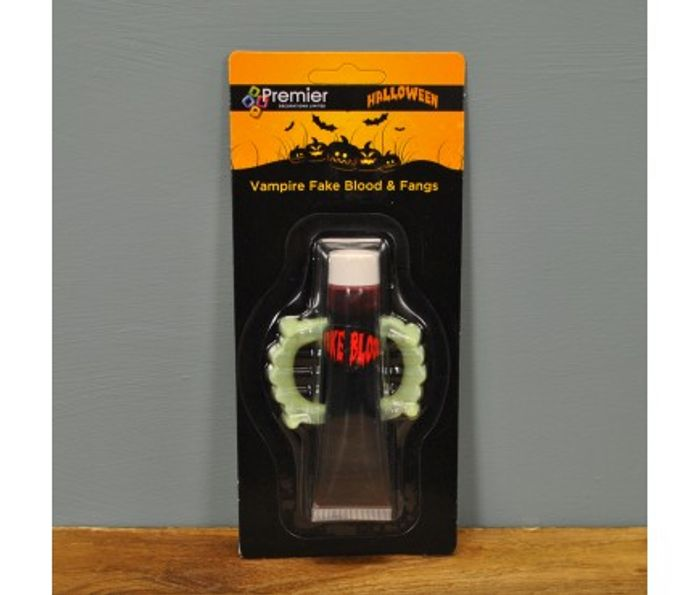 HALLOWEEN SPECIAL...Glow in the Dark Vampire Fangs with Fake Blood
