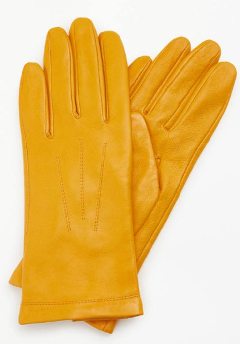 John Lewis & Partners Leather Fleece Lined Gloves Sale * Size Small Only*