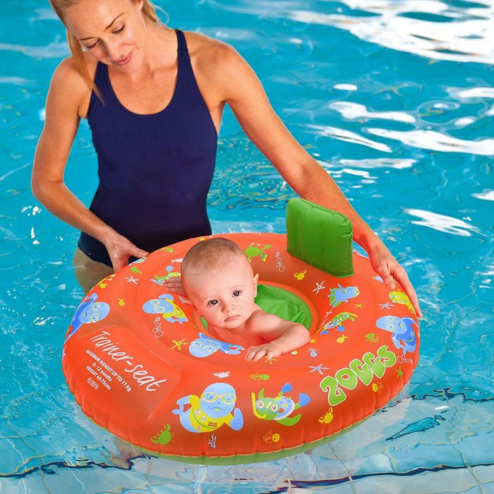 Zoggs Zoggy Baby Inflatable Trainer, Swim Seat