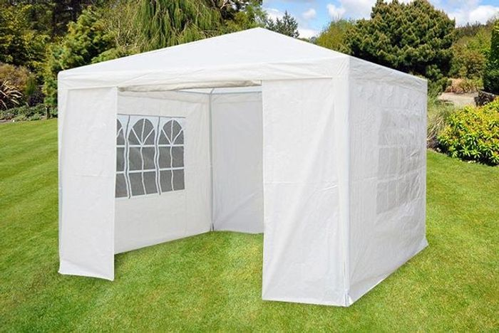 3m X 3m White Waterproof Garden Gazebo