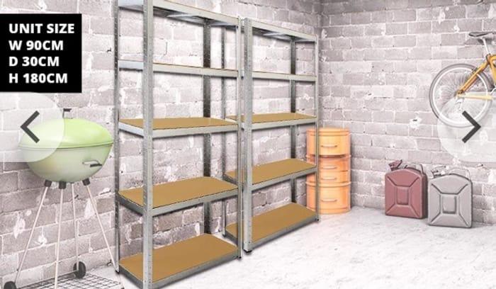 2 Galwix Steel Shelves at Wowcher - Save 85%