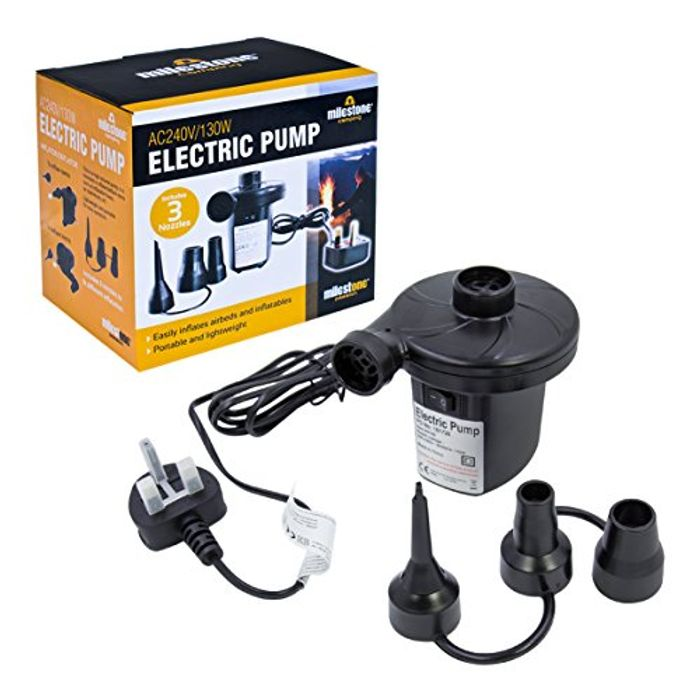 Electric Air Pump Inflator/Deflator for Airbeds, Paddling Pools & Toys