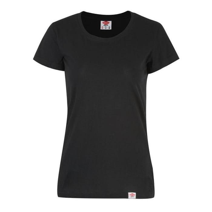 Lee Cooper Regular T Shirt Ladies (Black or White)