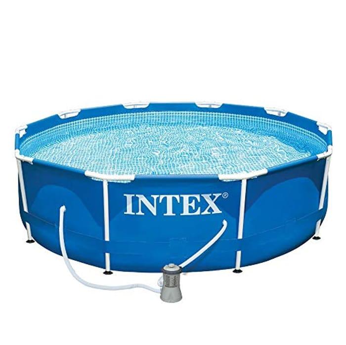 INTEX 28202UK 10 Ft X 30-Inch Metal Frame Pool Set Blue. Includes 1,250L